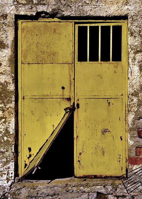 Locked Yellow Door