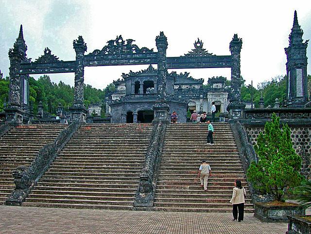 The stairs to the Khải Định mausoleum