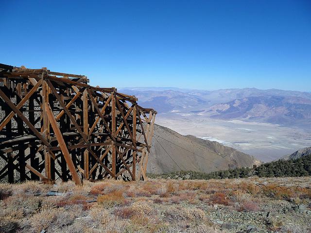 Salt Tram Transfer Point View Toward Saline Valley (1828)