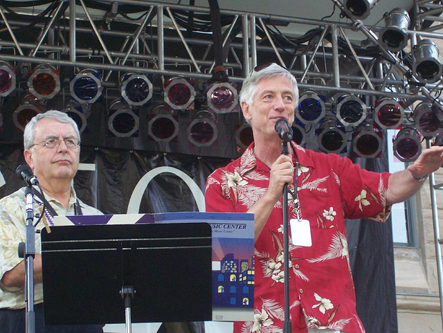 Jerry Floor and Mayor Rocky Anderson
