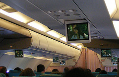 In-flight movie