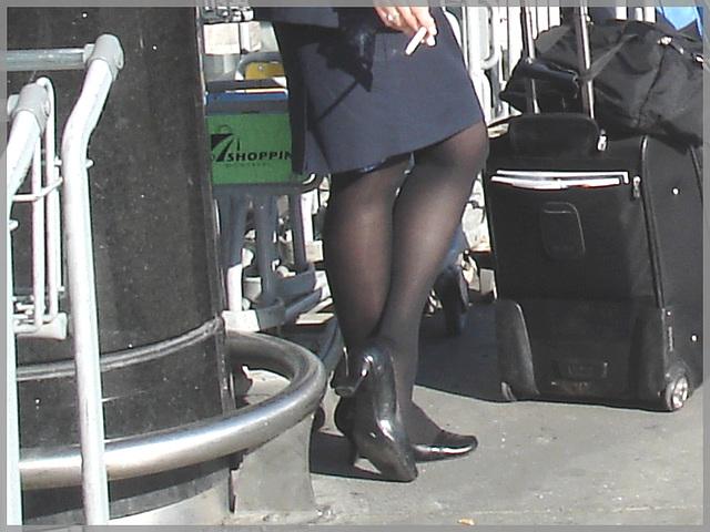 Tobacco and high heels- Tabac & Talons Hauts- PET Airport. Montréal, Québec.  CANADA.
