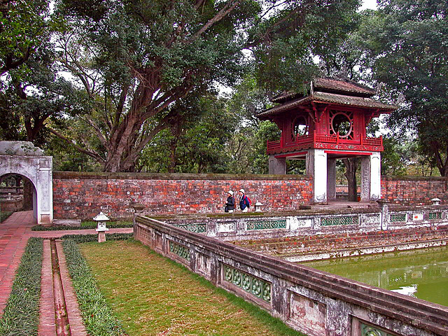 The Second Courtyard in Văn Miếu complex