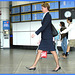 Hôtesse de l'air bien chaussée /Tall & slim beautiful flight attendant in high heels - 18 octobre 2008