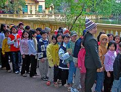 Viet kiddies waiting to visit Uncle Stilt Ho's house