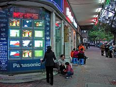 Along the main road in Hanoi