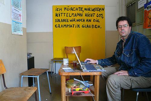 Meditation über den Satz Ich fürchte, wir werden Kittelmann nicht los, solange wir noch an die Grammatik glauben. September 2007