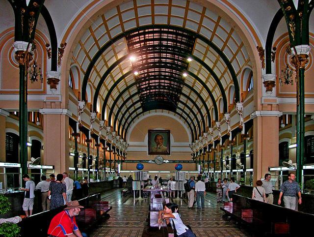 Inside the Mainpost office in Saigon