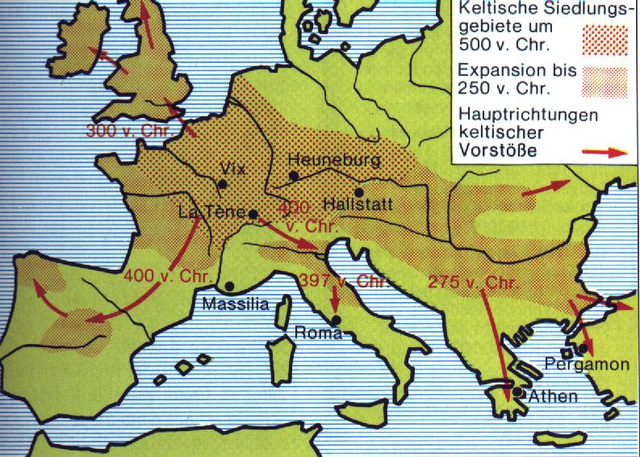keltaj atakoj gis 250 a.Kr.