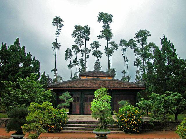 Behind the Thiên Mụ Pagoda