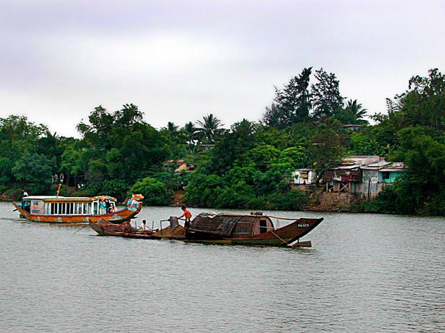 A boat trip on the Perfume river (Hương River)