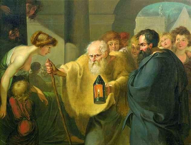 Diogeno rigardadas pro homo - laŭdire de H.W. Tischbein