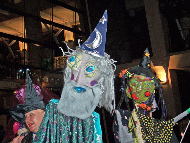 Starry-eyed puppets at Harry Potter party