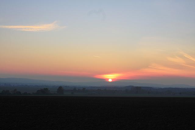 Sonnenuntergang bei Salzgitter