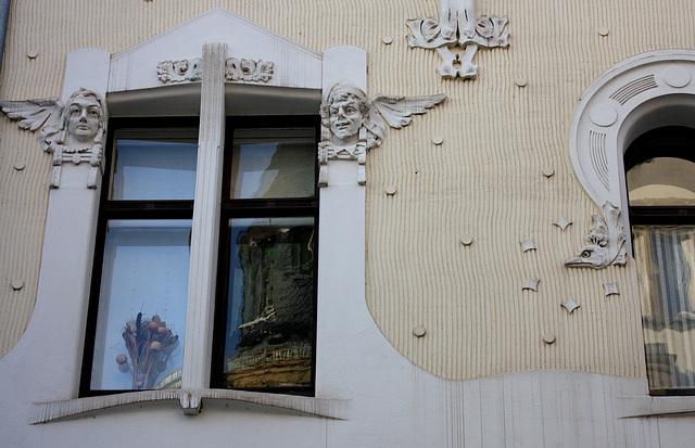 Jugendstilfenster am Haus Körtge