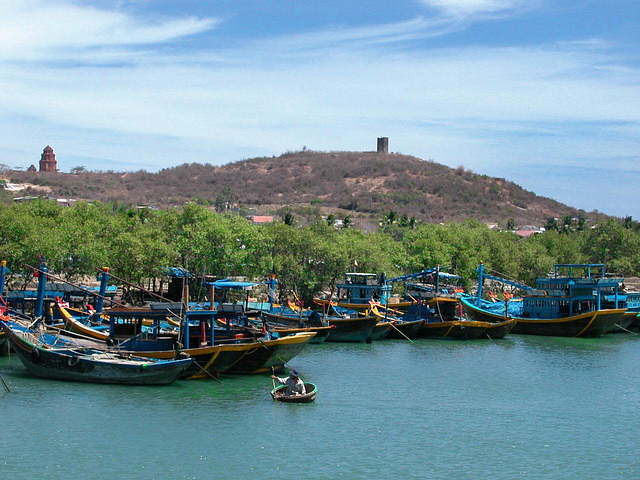Fishing boats in Phan Thiết