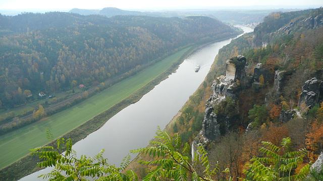 Blick von der Bastei - Oktober 2008