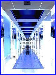Perspective intérieure / Inner perspective - 1250 BLVD René Lévesque ouest- Montréal- 26-01-2008 - Effet négatif avec flash