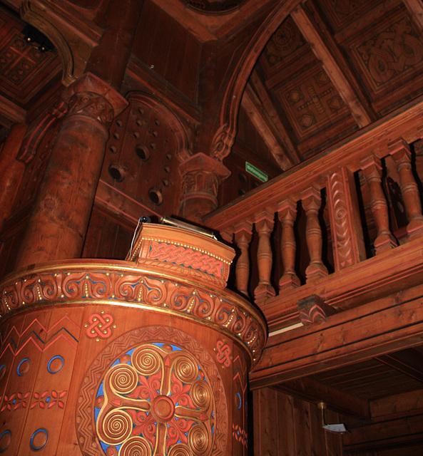 Kanzel in der Stabkirche in Hahnenklee