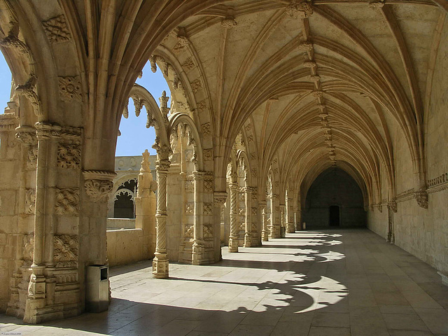 PICT12108ac San Jeronimos Cloister Shadows at First Level