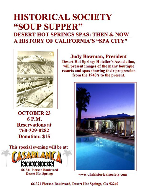 DHS Historical Society Soup Supper
