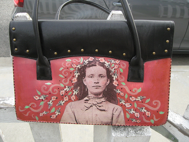 """Flower Girl"" Upcycled Purse"