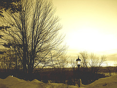 Monastic sunrise / Lever de soleil monastique - 7 février 2009-  Sepia