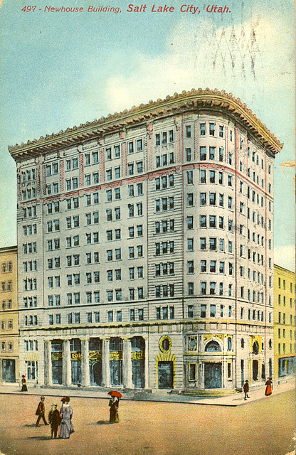 Newhouse building postcard