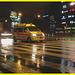 Ambulance de nuit sous la pluie /  Night ambulance under the rain drops -  Copenhague. Danemark - 19 octobre 2008.