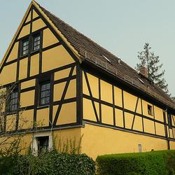 Altes Fachwerkhaus bei Dresden