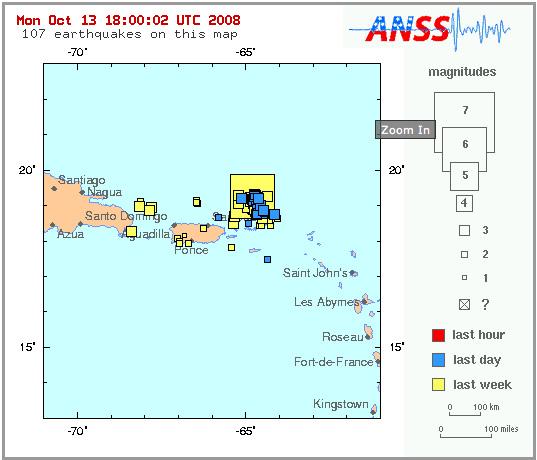 Virgin Island quakes
