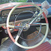 steering wheel and dash of the '56 Lincoln