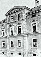 loĝdomo de la patro de Brecht en Augsburg
