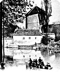 Lago en Augsburg proksime de la domo de familio Becht