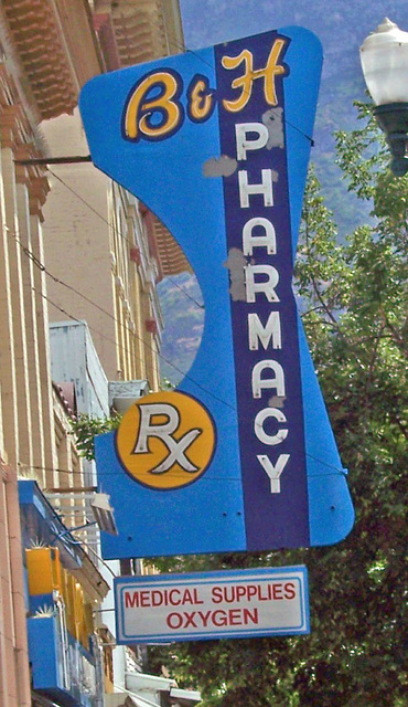 B & H Pharmacy sign