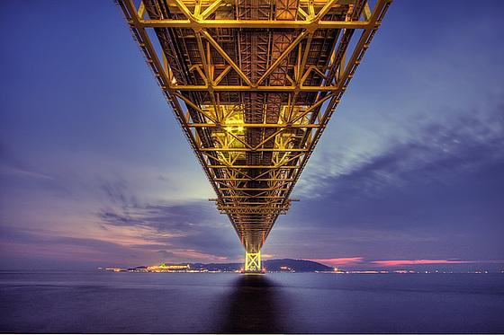 Akashi-Kaikyō Bridge by Philipp