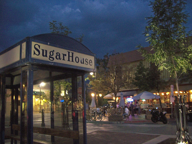 Sugarhouse Coffee at dusk