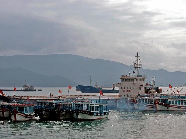 At the port in Nha Trang
