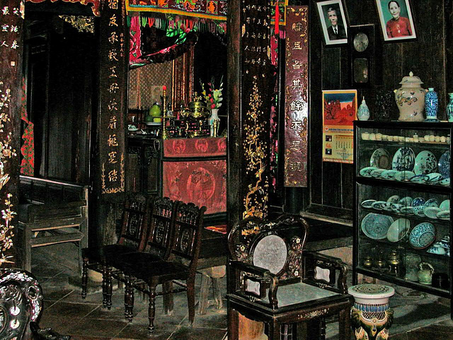 Inside a private house in Hội An