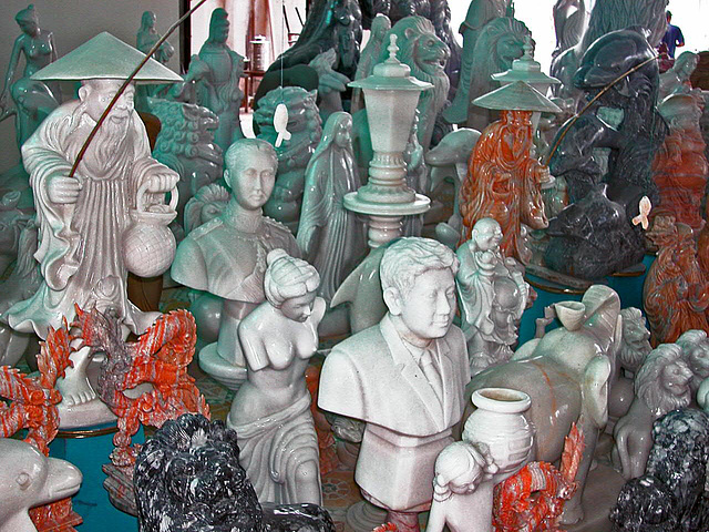 Marble handicrafts sold to the tourists