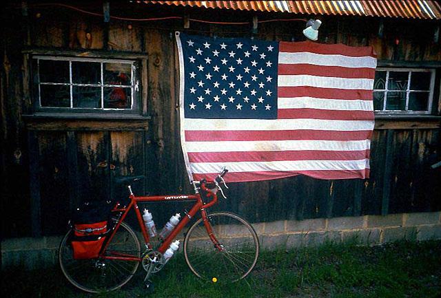 Bike And Flag
