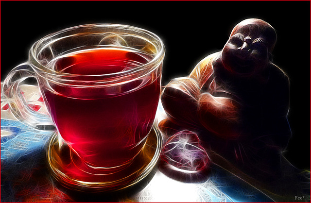 Little Buddha and a cup of tea*