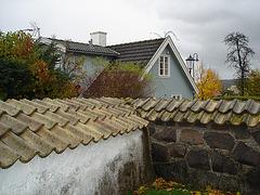 Cimetière et église de Båstad en Suède / Båstad cemetary and chuch in Sweden.