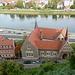 Blick vom Domplatz hinunter auf die Elbe