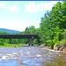 Pont et rivière -  Bridge and river -Vermont- USA