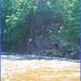 Pont et rivière / Bridge and river - Vermont, USA.  6 août 2008