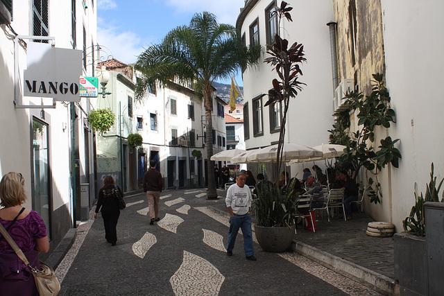 in Fußgängerzone von Funchal