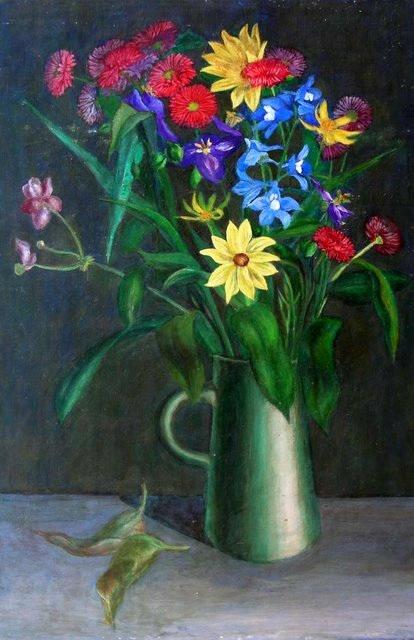 Blumenbild vor dunklem Hintergrund