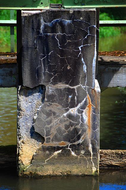 Old concrete pier at a power plant - 2