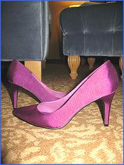 Talons Hauts Bleus Français à Las Vegas  - Las Vegas blue french Heels - Cadeau / Gift  - Avec permission /  With permission.